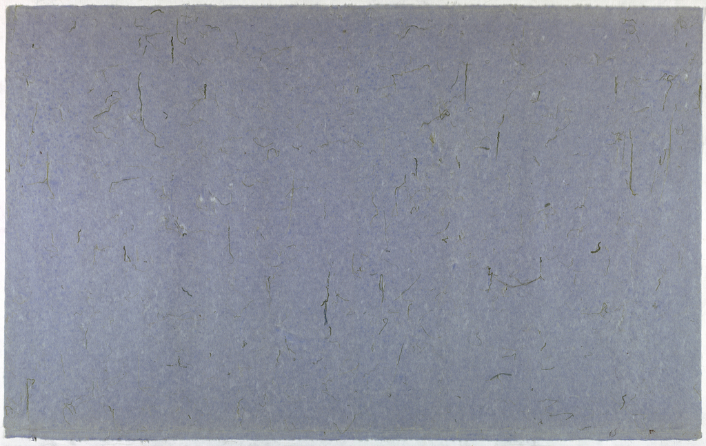 Decorated Paper, violet with green grass, ca. 1940