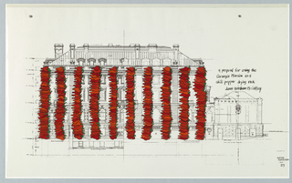 Drawing, Carnegie Mansion Embellishment, ca. 1980