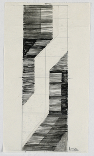 Vertical zigzag framed by horizontal lines.