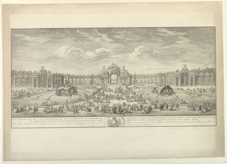 Print, Celebration on the Terrace of Versaille on the marriage of Elizabeth of France to Philip theSecond of Spain, 1752