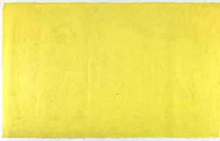 Decorated Paper, yellow with fibre, ca. 1940