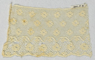 Fragment of Lille style lace with Lille ground