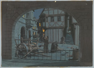 """Drawing, Design for """"The Black Death"""" Diorama for """"The Triumph of Man"""" Exhibit, The Travelers Pavilion, New York World's Fair 1964–65, 1964"""