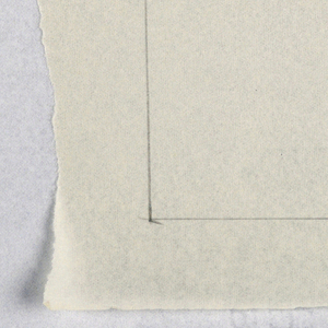"""Vertical rectangle. Lower right, in graphite: 1 ½"""" = 1' / Scale."""