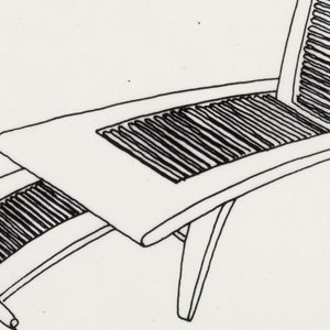 Design for a chaise longue.