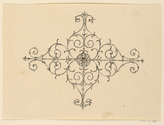 Drawing, Centrer Motif of Ceiling, 1815–22