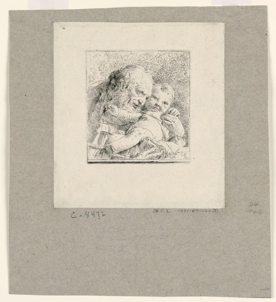Print, St. Joseph holding the Christ Child