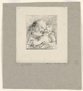 Print, St. Joseph holding the Christ Child