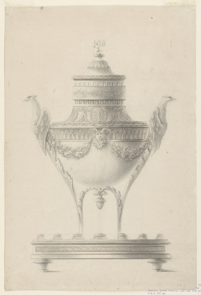 Drawing Design For An Incense Burner Late 18th Century Objects Collection Of Cooper Hewitt Smithsonian Design Museum