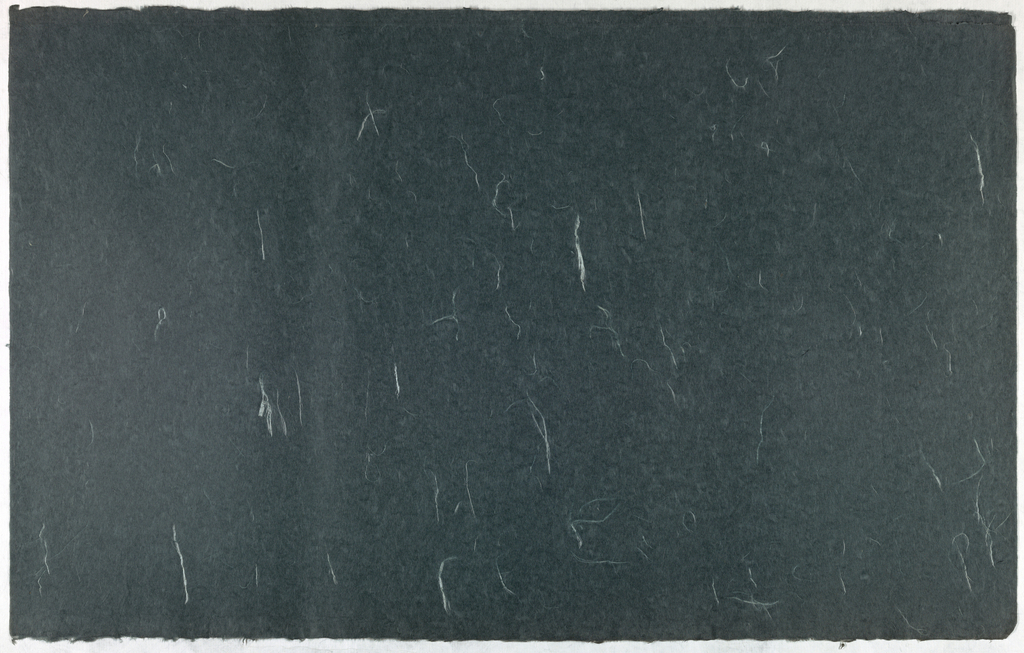 Decorated Paper, slate gray with fibre, ca. 1940