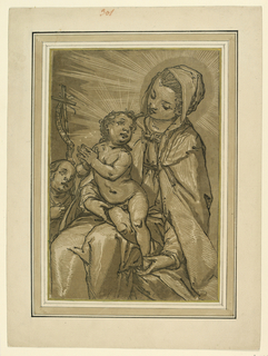 Print, Virgin and Child and St. John