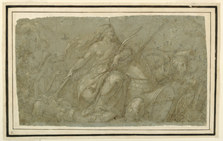 Drawing, Peace Burning Attributes of War, mid–late 16th century