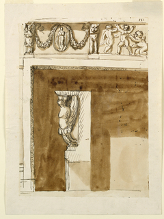 Drawing, Decoration for a mantelpiece