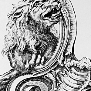 Cartouche with Lion