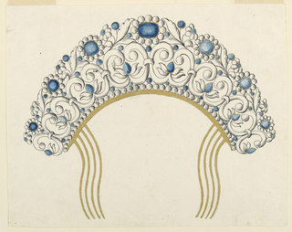 Drawing, Design for Jewelled Hair, 1800–1850