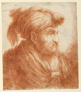 Drawing, Portrait of a Man with a Turban