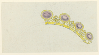 Drawing, Design for a comb, 1810–30