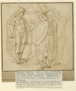 Drawing, Study of Warriors, 16th-17th centuries