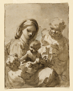 Woman and man with two children.
