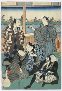 Print, Five Figures in Mourning