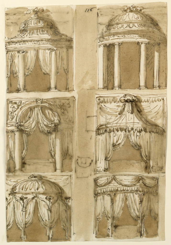 Drawing, Six bed alcoves