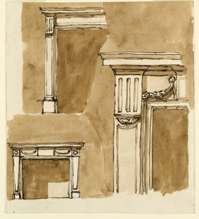 Drawing, Mantelpieces