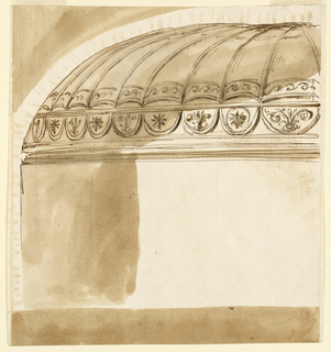 Drawing, Decoration for low dome of a room