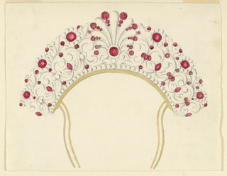 Drawing, Design for Jeweled Hair C, 1800–1850