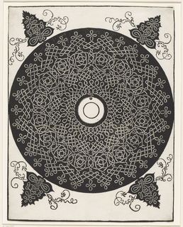 Print, The Third Knot (Interlace Pattern with White Medallion)