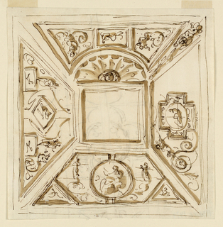Drawing, Decorations for a ceiling