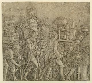 Print, Triumph of Caesar: The Corselet Bearers
