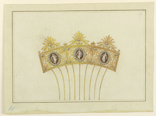 Drawing, Design for a comb, 1800–1825