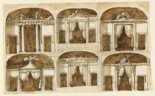 Drawing, Elevations of alcoves