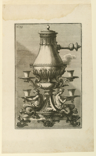Print, Coffee-pot and Stand from, 1714