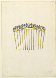 Drawing, Design for comb, 1825–30
