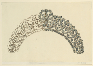 Drawing, Design for a comb, 1815–30