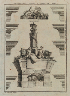 Print, Architecture Propre A Differens Usages (Architecture for Different Uses), plate from Oeuvres de François de Cuvilliés, fils