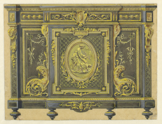 Drawing, Design of a Cabinet in the Louis XVI Style