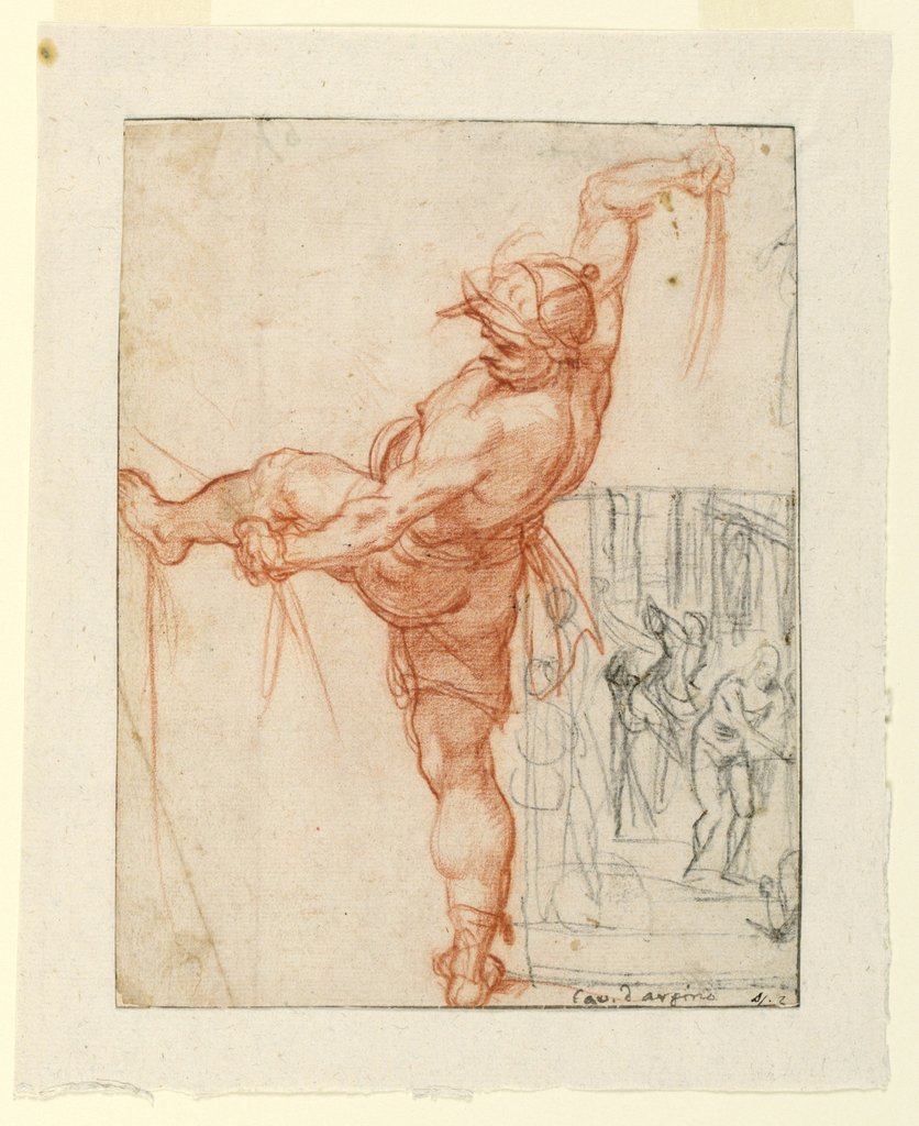 Drawing, Studies for the Flagellation of Christ