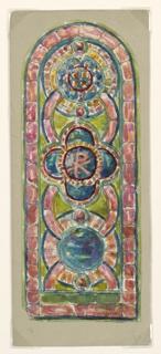 Drawing, Design for Memorial Window, Beecher Memorial Church, Brooklyn, NY