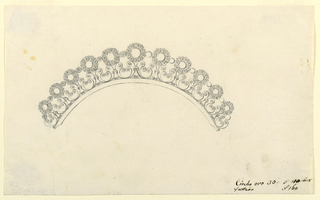 Drawing, Design for a diadem, early 19th century