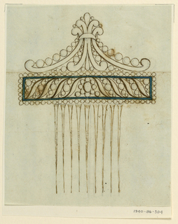Drawing, Design for a comb, 1810–15