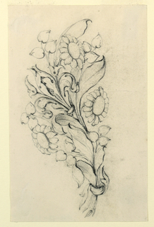 Drawing, Design for a brooch, early 19th century