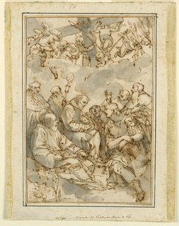Drawing, Exaltation of the Cross and Saints (Design for a Painting for the Cathedral of Pisa)