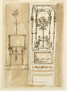 Drawing, Wall panel