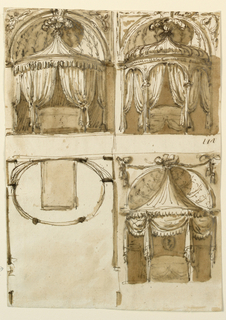 Drawing, Three bed alcoves