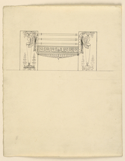 Drawing, Design for a grate, 1820