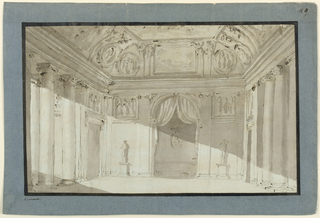 Drawing, Hall interior