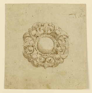 Drawing, Design for brooch with circular escutcheon, 16th century