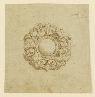 Drawing, Design for brooch with circular escutcheon